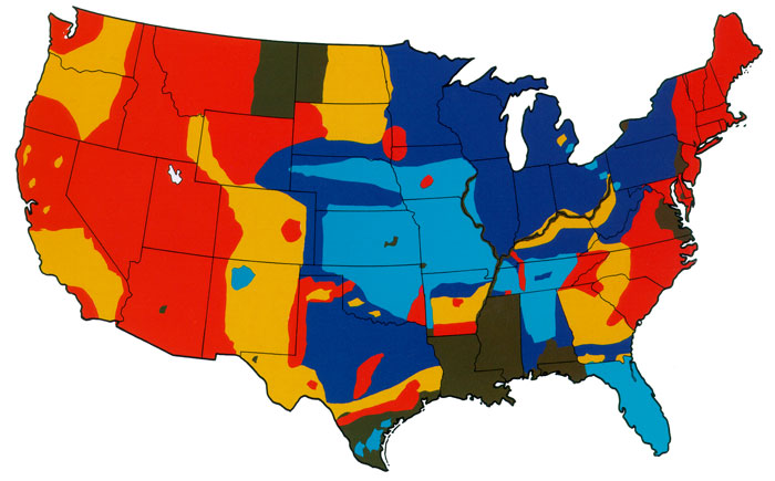 Map of Aggregate Classification Map of the United States